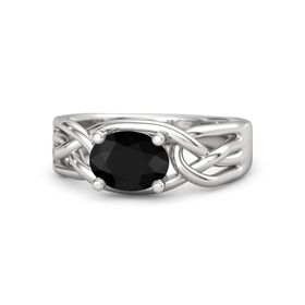 Oval Black Onyx Sterling Silver Ring