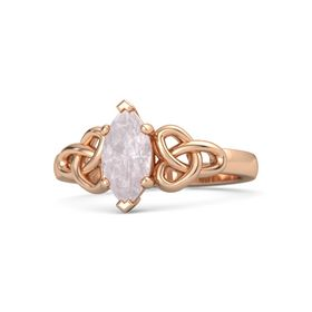 Marquise Rose Quartz 14K Rose Gold Ring