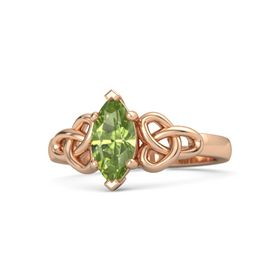 Marquise Peridot 14K Rose Gold Ring