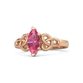 Marquise Pink Tourmaline 14K Rose Gold Ring