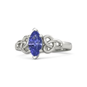 Marquise Tanzanite 14K White Gold Ring
