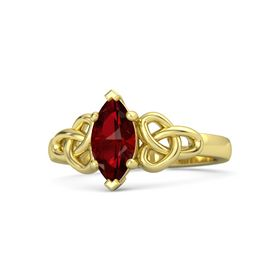 Marquise Ruby 14K Yellow Gold Ring