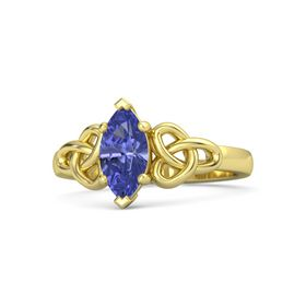 Marquise Tanzanite 14K Yellow Gold Ring
