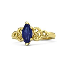 Marquise Sapphire 18K Yellow Gold Ring