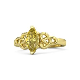 Marquise Yellow Sapphire 18K Yellow Gold Ring