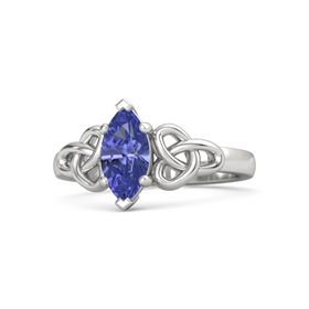 Marquise Tanzanite Sterling Silver Ring