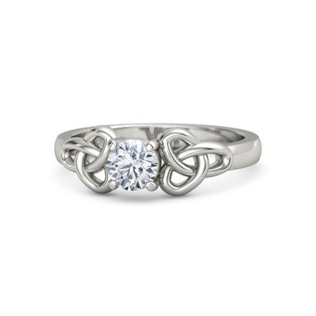 diamond 14k white gold ring katarina ring 5mm gem gemvara