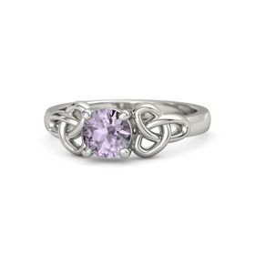 Round Rose de France Palladium Ring