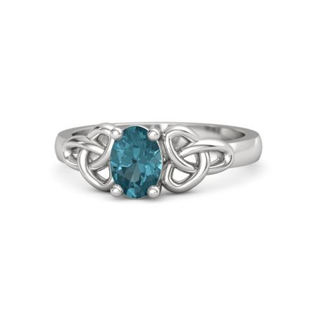 42d3083e55cf2 Regina Ring - Oval London Blue Topaz Sterling Silver Ring