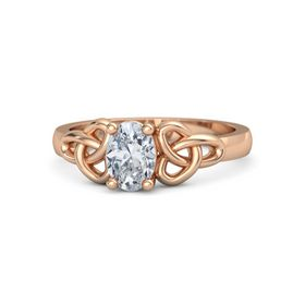 Oval Moissanite 14K Rose Gold Ring