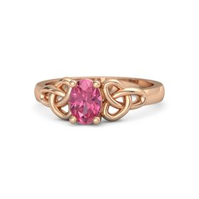 Oval Pink Tourmaline 14K Rose Gold Ring