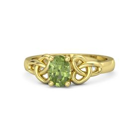 Oval Peridot 14K Yellow Gold Ring