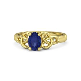 Oval Sapphire 14K Yellow Gold Ring