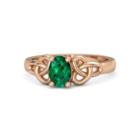 Oval Emerald 18K Rose Gold Ring