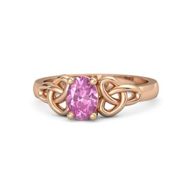 Oval Pink Sapphire 18K Rose Gold Ring