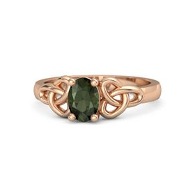 Oval Green Tourmaline 18K Rose Gold Ring