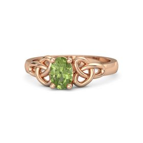 Oval Peridot 18K Rose Gold Ring
