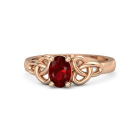 Oval Ruby 18K Rose Gold Ring