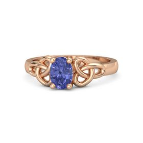 Oval Tanzanite 18K Rose Gold Ring