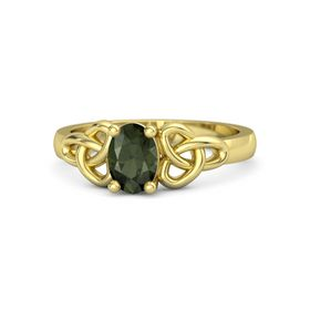 Oval Green Tourmaline 18K Yellow Gold Ring