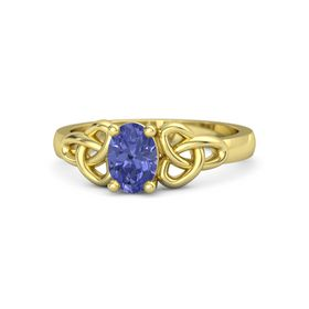 Oval Tanzanite 18K Yellow Gold Ring