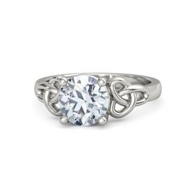 Round Diamond 14K White Gold Ring