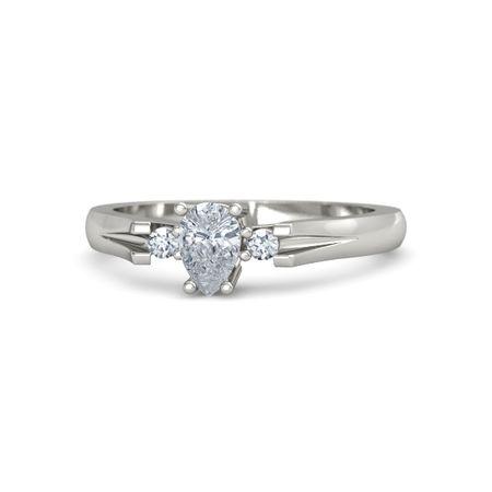 0.32 Tcw Color D Clarity Vs2 Round Cut 14k White Gold Diamond Bangle Bracelet Bridal & Wedding Party Jewelry Diamond
