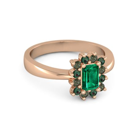 emerald emerald 14k gold ring with green tourmaline