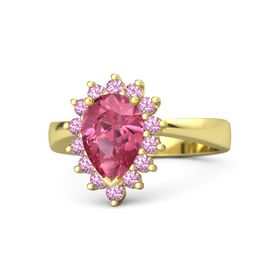 Pear Pink Tourmaline 14K Yellow Gold Ring with Pink Tourmaline