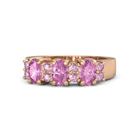 Oval Pink Sapphire 14K Rose Gold Ring with Pink Sapphire