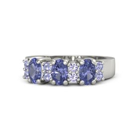 Oval Tanzanite 14K White Gold Ring with Tanzanite