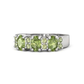 Oval Peridot Sterling Silver Ring with Peridot