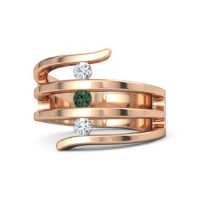 Round Alexandrite 18K Rose Gold Ring with Diamond