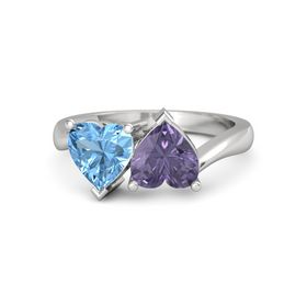 Sterling Silver Ring with Iolite & Blue Topaz