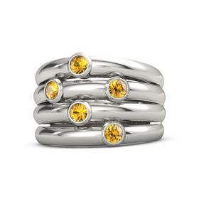 Palladium Ring with Citrine