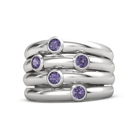 Sterling Silver Ring with Iolite