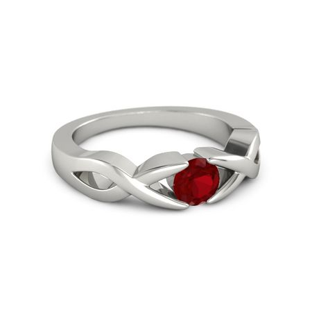 Two Paths Solitaire Ring