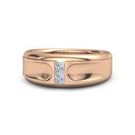 Men's 14K Rose Gold Ring with Diamond