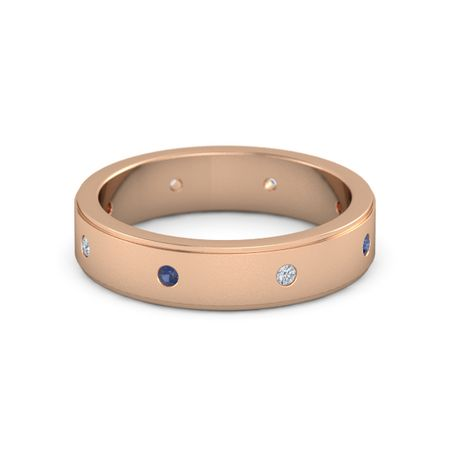 Satin Finish Gemstone Band (5mm wide)