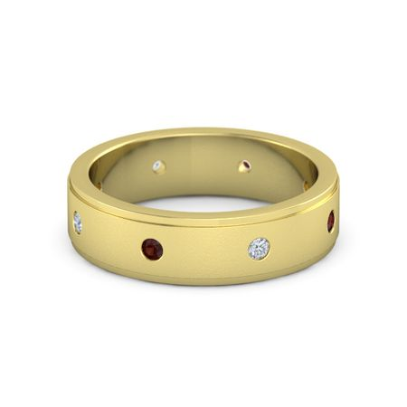 Satin Finish Gemstone Band (6mm Band)