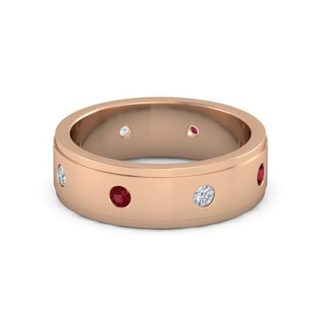Gemstone Band (7mm wide)