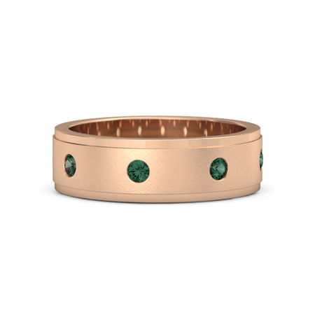 Satin Finish Gemstone Band (7mm Band)