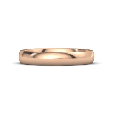 Mens 18K Rose Gold Ring Classic Comfort Fit Band 4mm Gemvara