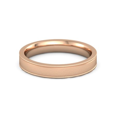 14rg p - Mens Rose Gold Wedding Rings