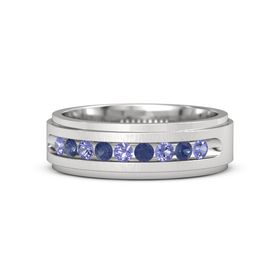 Sterling Silver Ring with Iolite and Blue Sapphire