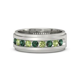 Palladium Ring with Alexandrite and Peridot