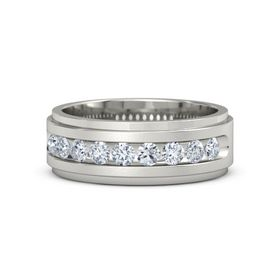 Men's Platinum Ring with Diamond