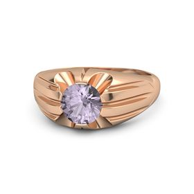 Round Rose de France 14K Rose Gold Ring