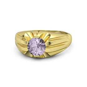Round Rose de France 18K Yellow Gold Ring