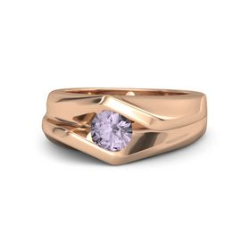 Men's Round Rose de France 14K Rose Gold Ring
